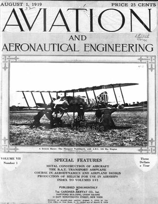 Cover for the August 1 1919 issue