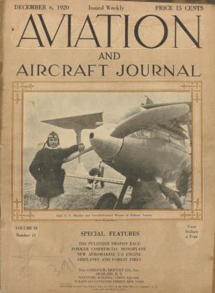 Cover for the December 6 1920 issue