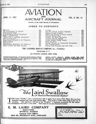 Cover for the April 11 1921 issue