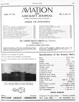 Cover for the April 18 1921 issue
