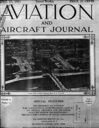 Cover for the April 25 1921 issue