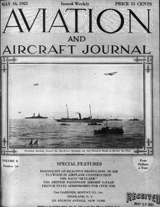 Cover for the May 16 1921 issue