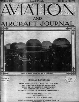 Cover for the June 6 1921 issue