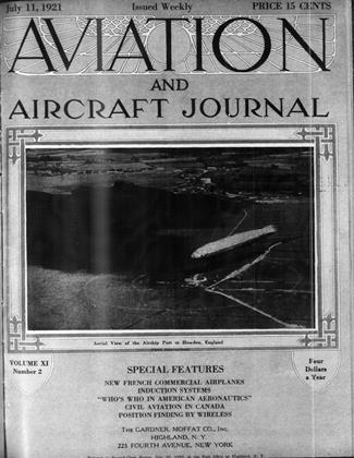 Cover for the July 11 1921 issue