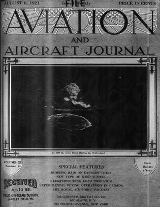 Cover for the August 8 1921 issue