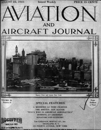 Cover for the August 22 1921 issue