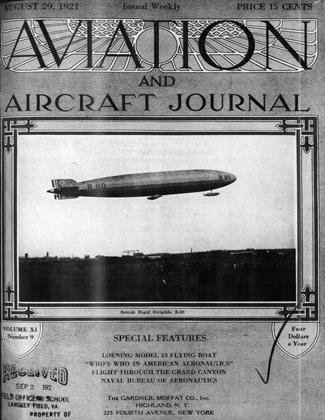 Cover for the August 29 1921 issue