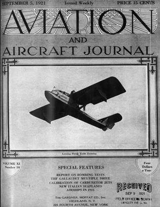 Cover for the September 5 1921 issue