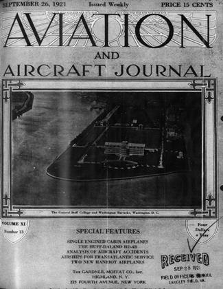 Cover for the September 26 1921 issue