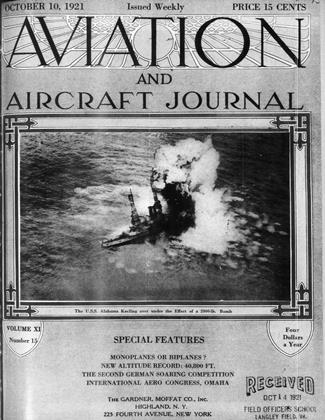 Cover for the October 10 1921 issue