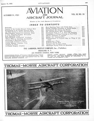 Cover for the October 31 1921 issue