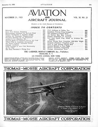 Cover for the November 21 1921 issue