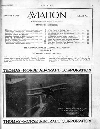 Cover for the January 2 1922 issue