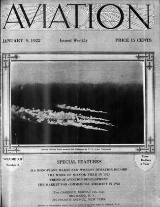 Cover for the January 9 1922 issue