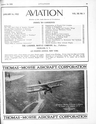 Cover for the January 16 1922 issue