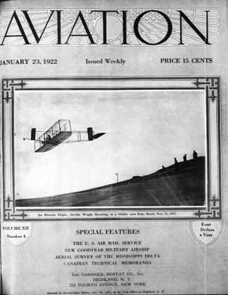 Cover for the January 23 1922 issue