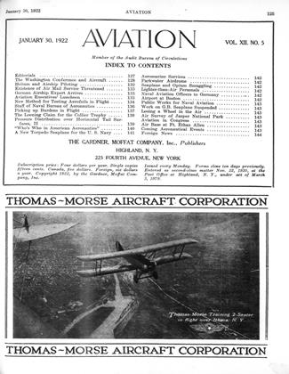 Cover for the January 30 1922 issue