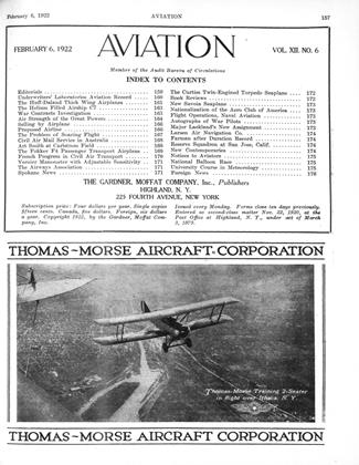 Cover for the February 6 1922 issue