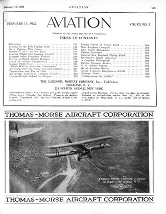Cover for the February 13 1922 issue
