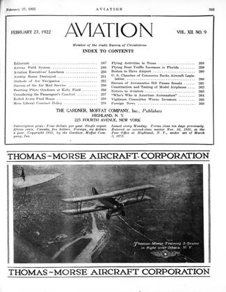 Cover for the February 27 1922 issue