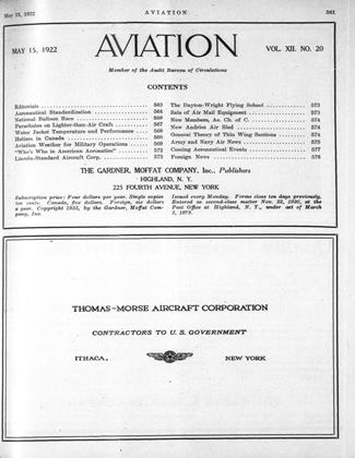 Cover for the May 15 1922 issue