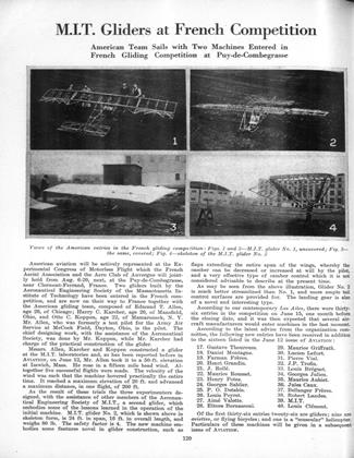 M.I.T. Gliders at French Competition, Page: 120 - JULY 31, 1922 | Aviation Week