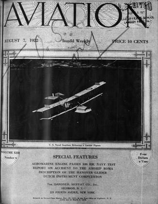 Cover for the August 7 1922 issue