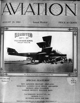 Cover for the August 21 1922 issue