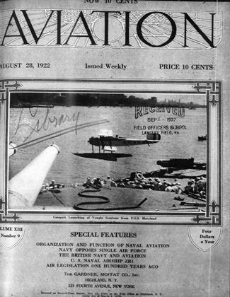 Cover for the August 28 1922 issue
