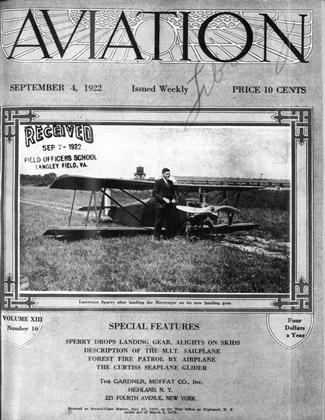 Cover for the September 4 1922 issue