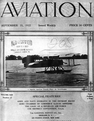 Cover for the September 11 1922 issue