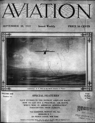 Cover for the September 18 1922 issue
