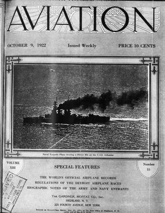 Cover for the October 9 1922 issue