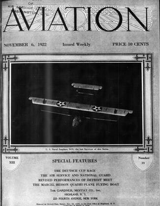 Cover for the November 6 1922 issue
