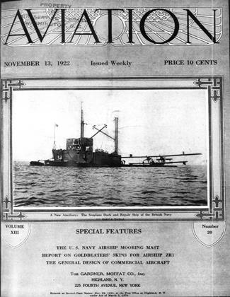 Cover for the November 13 1922 issue