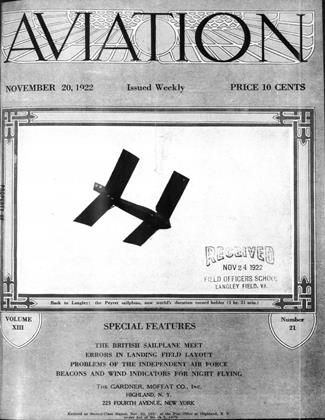 Cover for the November 20 1922 issue