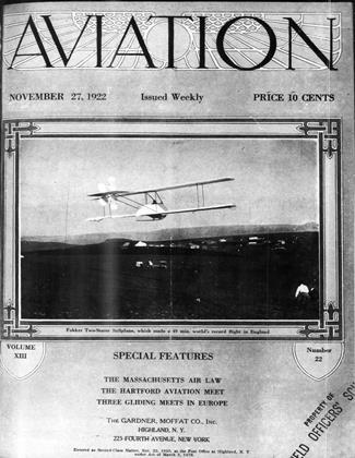Cover for the November 27 1922 issue