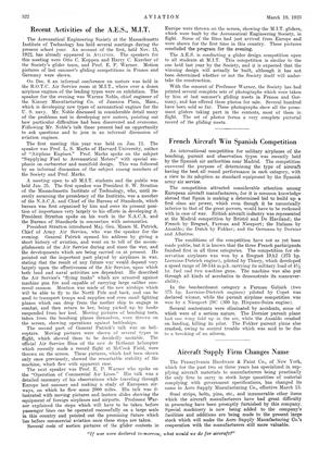 Recent Activities of the A.e.s., M.i.t., Page: 322 - MARCH 19, 1923 | Aviation Week