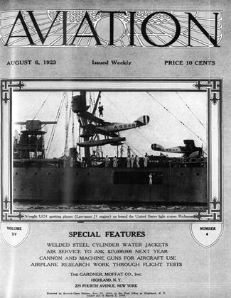 Cover for the August 6 1923 issue