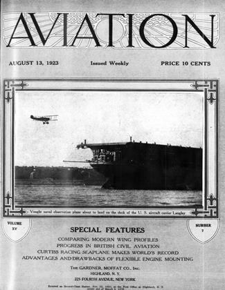 Cover for the August 13 1923 issue