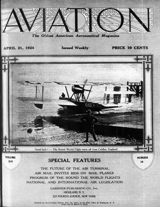 Cover for the April 21 1924 issue
