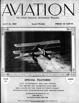 Cover for the July 21 1924 issue