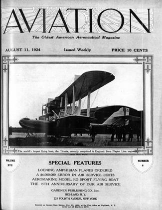 Cover for the August 11 1924 issue