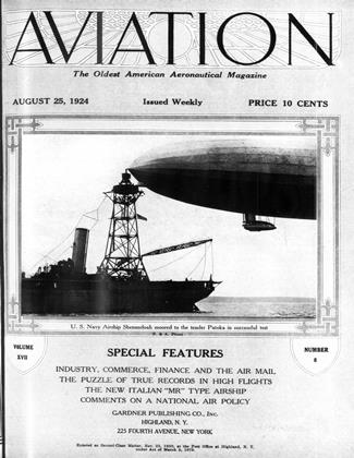 Cover for the August 25 1924 issue