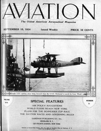 Cover for the September 15 1924 issue