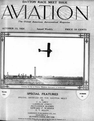 Cover for the October 13 1924 issue