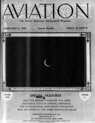 Cover for the February 9 1925 issue