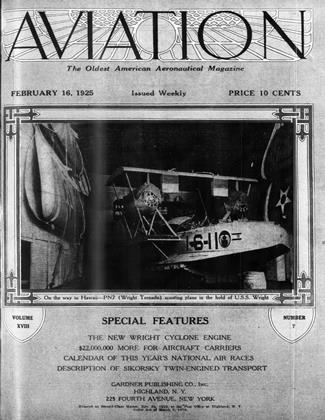 Cover for the February 16 1925 issue