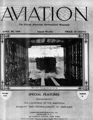 Cover for the April 20 1925 issue