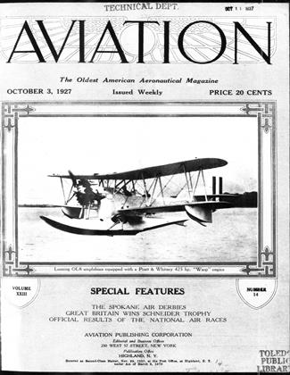 Cover for the October 3 1927 issue